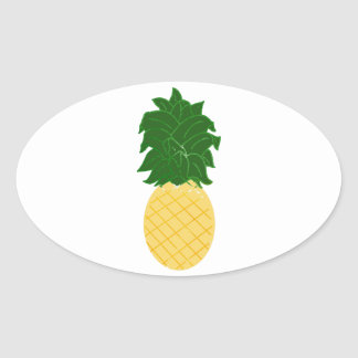 Pineapple Oval Sticker