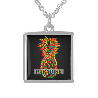 Pineapple Paradise Sterling Silver Necklace