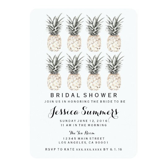 Pineapple Party Bridal Shower Invitation