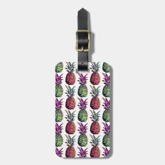 Pineapple Party Pattern Luggage Tag
