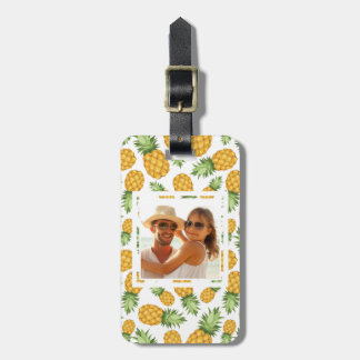 Pineapple Pattern | Add Your Photo Luggage Tag