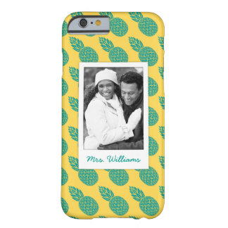 Pineapple Pattern | Add Your Photo & Name Barely There iPhone 6 Case