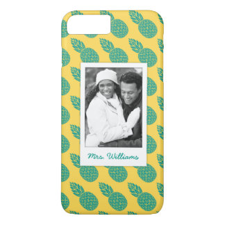 Pineapple Pattern | Add Your Photo & Name iPhone 8 Plus/7 Plus Case