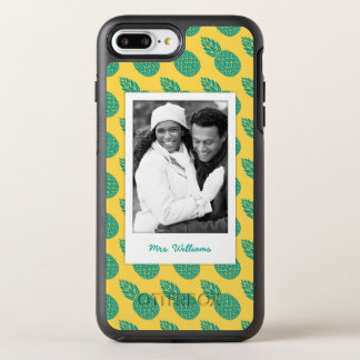 Pineapple Pattern | Add Your Photo & Name OtterBox Symmetry iPhone 7 Plus Case