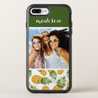 Pineapple Pattern | Add Your Photo OtterBox Symmetry iPhone 7 Plus Case