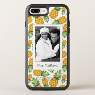 Pineapple Pattern | Add Your Photo OtterBox Symmetry iPhone 8 Plus/7 Plus Case