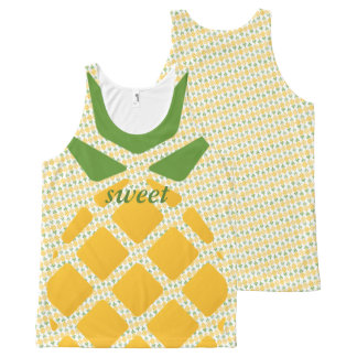 Pineapple Pattern All-Over Print Tank Top