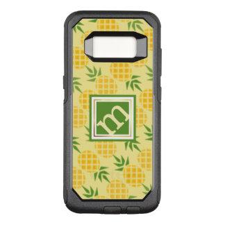 Pineapple Pattern - Angled Monogram OtterBox Commuter Samsung Galaxy S8 Case