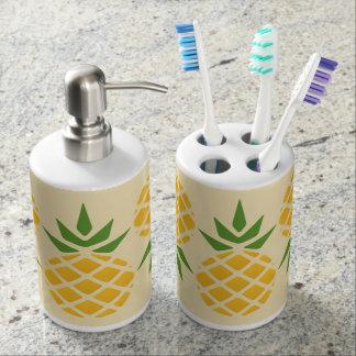 Pineapple Pattern Bathroom Set
