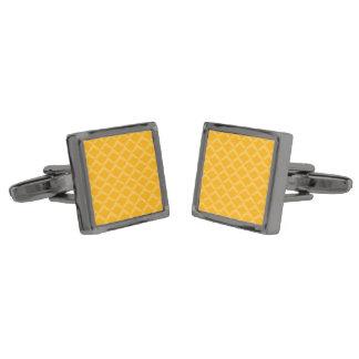 Pineapple Pattern Gunmetal Finish Cufflinks