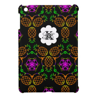 Pineapple Pattern in Tropical Color Personalizable iPad Mini Cover