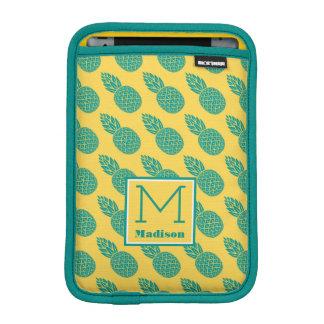 Pineapple Pattern | Monogram iPad Mini Sleeve