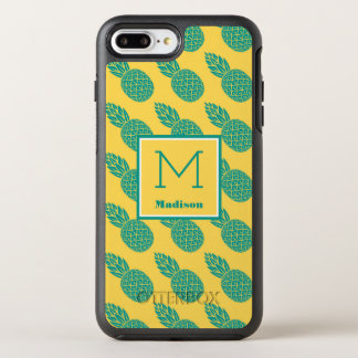 Pineapple Pattern | Monogram OtterBox Symmetry iPhone 8 Plus/7 Plus Case