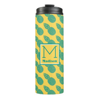 Pineapple Pattern | Monogram Thermal Tumbler
