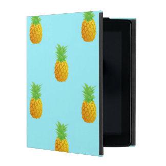 Pineapple Pattern on Blue iPad Case