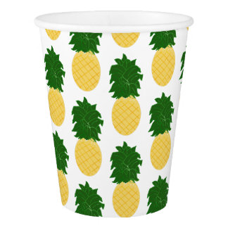 Pineapple Pattern Paper Cup