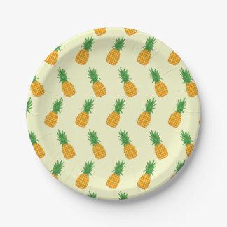 Pineapple Pattern Paper Plate