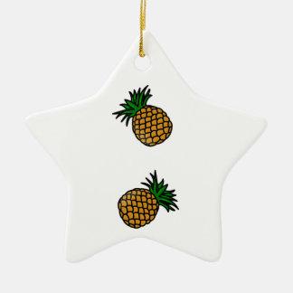 Pineapple Pattern Tropical Fruits Juice Fun Apple Ceramic Star Decoration