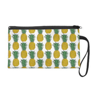 Pineapple Pattern Wristlet