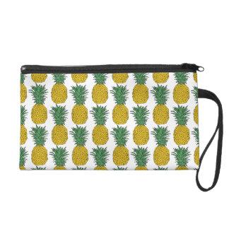 Pineapple Pattern Wristlet