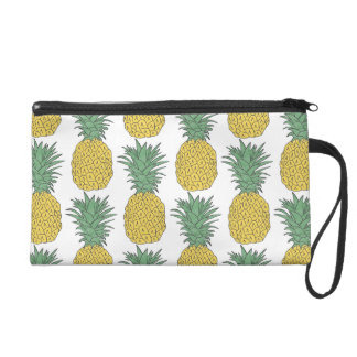 Pineapple Pattern Wristlet Purses