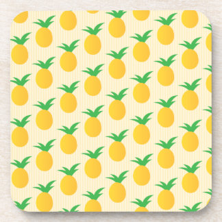 Pineapple Pattern Yellow Green Coaster