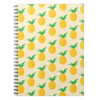 Pineapple Pattern Yellow Green Notebook