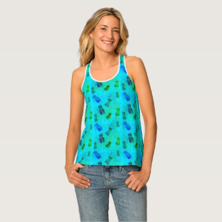 Pineapple Patterned Tank Top