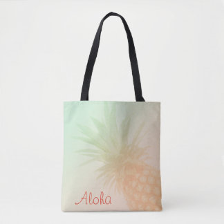 Pineapple Personalised Tote Bag