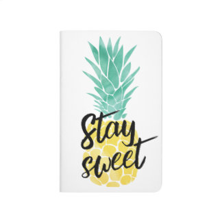 Pineapple Pocket Notebook - Stay Sweet Journals