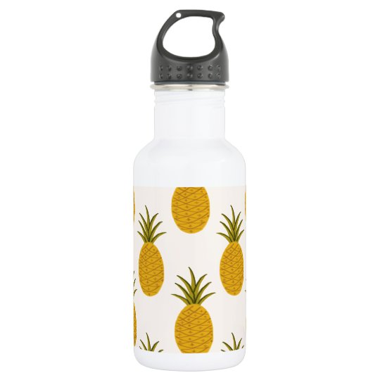 Pineapple Print 532 Ml Water Bottle