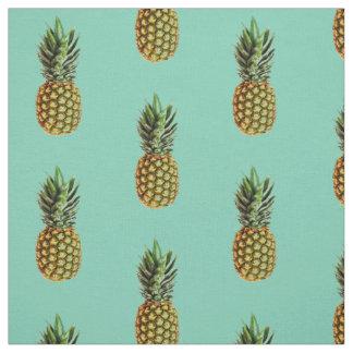 Pineapple print DIY textile fabric