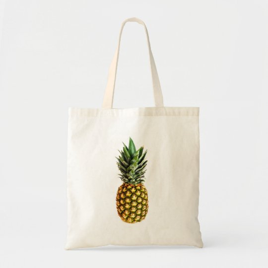 Pineapple print tote bag | Healthy food photograph