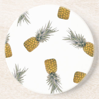 Pineapple Print Tropical Coaster