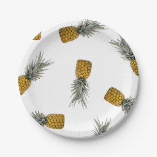 Pineapple Print Tropical Paper Plates