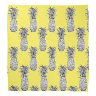 Pineapple Print Yellow Bandana