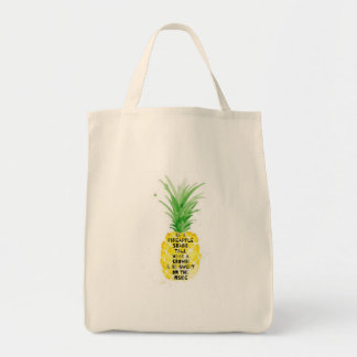 pineapple quote tote bag