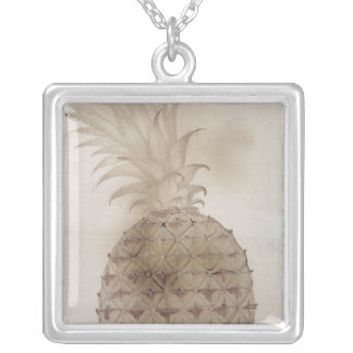 Pineapple, Silver Plated Necklace