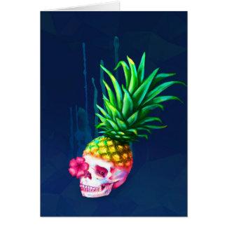 Pineapple Skull Card