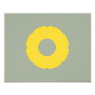 pineapple slice photographic print