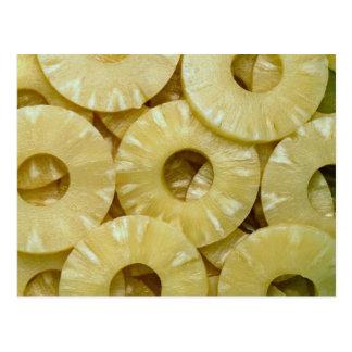 Pineapple slices postcard