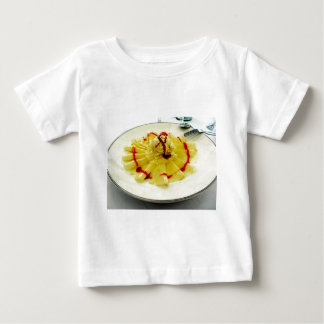 Pineapple slices with vanilla ice cream tshirt