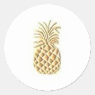 Pineapple Stamp Round Sticker