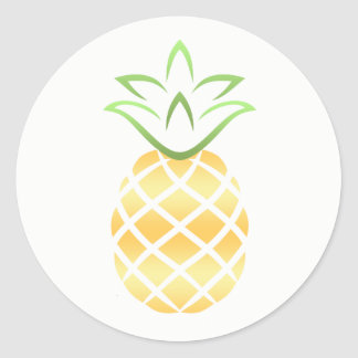 Pineapple Stickers! Classic Round Sticker