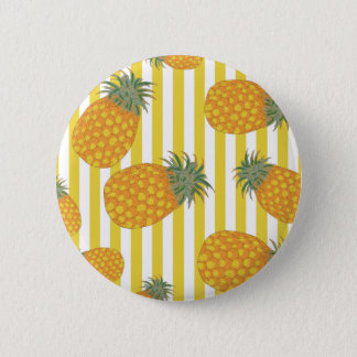 Pineapple Stripes 6 Cm Round Badge