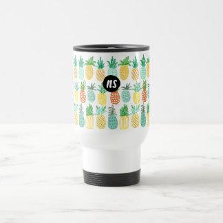 Pineapple Summer Monogram | Travel Mug