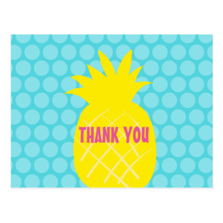 pineapple thank you card postcard