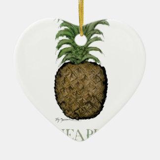 pineapple, tony fernandes ceramic heart decoration