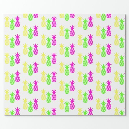 Pineapple Trio Wrapping Paper