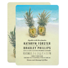 Pineapple Tropical Beach Destination Wedding